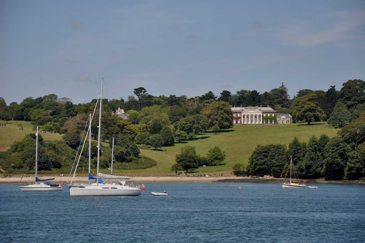 A view across the River Fal to the National Trust property Trelissick.