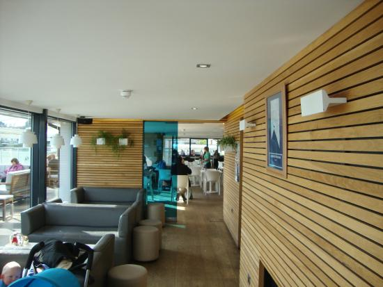 Level access throughout the Gylly Beach Cafe